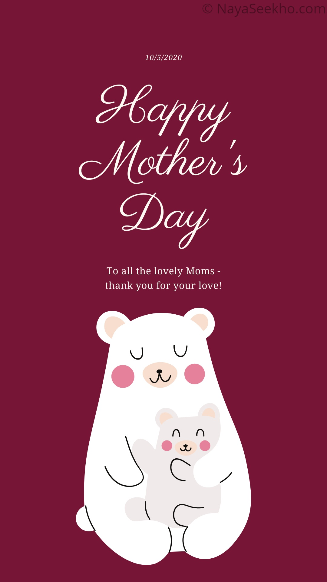 Mothers day Status Image